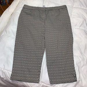THE AVENUE Geometric Printed Stretch Crop Pants 18